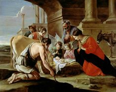 Le Nain Brothers, The Adoration of the Shepherds, c. 1640. Oil On Canvas, 109.5…