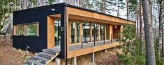 5 Inexpensive Modern Prefab Houses You Can Buy Right Now – My Life Spot Prefab Cabins, Prefab Homes, Log Homes, Wooden Architecture, Architecture Design, Prefab Buildings, Casas Containers, Solar House, Eco Friendly House