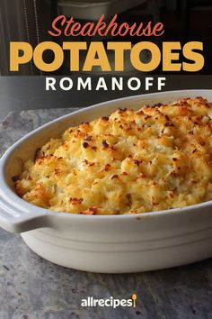 Chef John's potatoes Romanoff feature shredded potatoes fluffed up with sour cream and cheese and baked into the ideal holiday gratin or steak side dish.