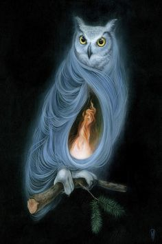 Owl Artwork, Owl Pictures, Group Art, Beautiful Owl, Ouvrages D'art, Animal Totems, Twin Peaks, Pics Art, Fantasy Art