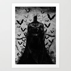 The Knight rises B Art Print by UvinArt - $20.00