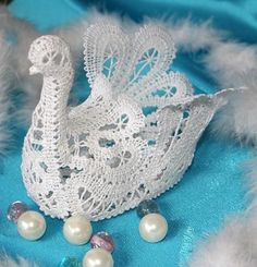Advanced Embroidery Designs - FSL Battenberg 3D Lace Swan