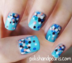 Polka Dot Manicure: Bubbly Blue