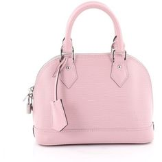 Pre-Owned Louis Vuitton Alma Handbag Epi Leather BB (21,775 MXN) ❤ liked on Polyvore featuring bags, handbags, light pink, pink studded purse, pink hand bags, louis vuitton purse, multi color purse and pink purse