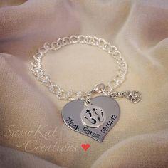 Hand stamped Mommy charm bracelet by SassyKatCreations10 on Etsy, $20.00