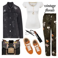 """Smell the Roses: Vintage Florals"" by the-geek-goddess ❤ liked on Polyvore featuring Zizzi, River Island, Converse, Furla, NARS Cosmetics and vintage"