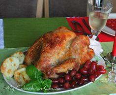 Pavo Asado - Roast Turkey Colombia, comida, Navidad, Pavo, recetas, recipes