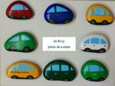 Automobili-Painted  Stones di Rosaria Gagliardi