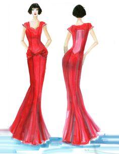 fashion illustration Fashion Design Sketches, Drawing Sketches, Drawings, Formal Dresses, Illustration, Dresses For Formal, Formal Gowns, Sketches, Formal Dress