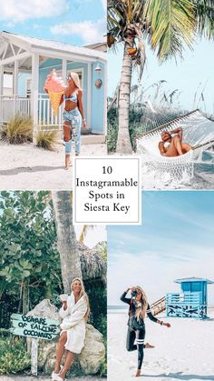 Where to take Instagram pictures in siesta key Florida