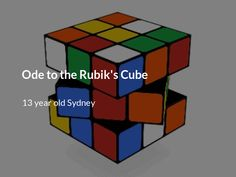 Ode to the Rubik's Cube Poetry Lessons, Poetry Quotes, Famous Poems, Poems Beautiful, Star Of David, Family Activities, Childhood Memories, Cube, Haha