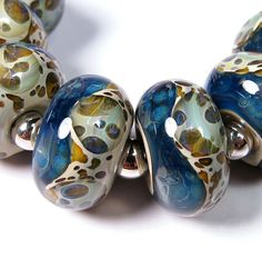 Lampwork beads  Ocean Shores  BBGLASSART  Lampwork by bbglassart, $28.99