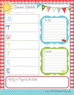 Home Management Binder  Weekly Calendar  Weekly Calendar Binder