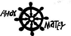 Pirate Ahoy Matey Helm Steering Wheel Vinyl by ItsWrittenOnTheWall