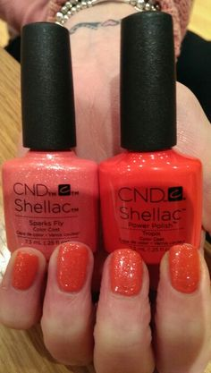 CND shellac tropix & new summer 2016 sparks fly. Gorgeous combination