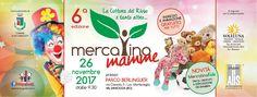 26 Novembre 2017 al Parco Berlinguer in via Cassola, 3 - Valsamoggia loc.tà Monteveglio (BO) - 6a Edizione del Mercatino Mamme La Cultura del Riuso