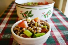 black-eyed pea salad to ring in the new year!