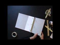 Binder tutorial part 2 of 2 - making a journal from an old 3ring binder; Ingrid Dijkers