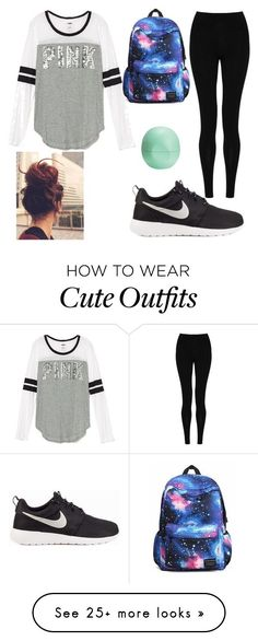 """Cute And Comfy Winter Outfit"" by mialynncraven33 on Polyvore featuring NIKE…"