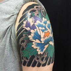 22 Japanese Quarter Sleeve Tattoo