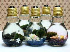 Easy Marimo Moss Ball DIY Light Bulb Aquarium - a friend made me one of these and now I am looking to take care of it.