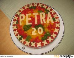 Aspikový dort narozeninový-hladký Vegetarian Recipes, Birthday Cake, Holiday Decor, Desserts, Tailgate Desserts, Deserts, Birthday Cakes, Postres, Dessert