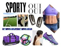 """""""Soccer Practice (Or Tryouts)"""" by toribabe1990 ❤ liked on Polyvore featuring ASOS, NIKE, Everest, Oui, cute, soccer, Fit and healthy"""