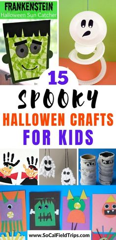 Check out this list of 15 Spooky Halloween Crafts For Kids for some fresh ideas and inspiration to celebrate the goolish holiday! They are perfect for toddlers, preschoolers and even elementary school age children. #halloween #fall #craft #diy #halloweencraft #fallcraft #kidscraft #preschoolscraft Spooky Halloween Crafts, Halloween Crafts For Toddlers, Halloween Activities, Halloween Themes, Ghost Crafts, Spider Crafts, Easy Paper Crafts, Fun Crafts, Make Your Own Stamp