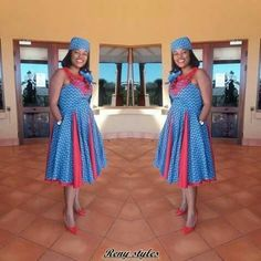 Ideas of Shweshwe Styling with Modern Outfits - Reny styles African Fashion Designers, African Inspired Fashion, African Men Fashion, African Fashion Dresses, African Outfits, Africa Fashion, African Print Dresses, African Dresses For Women, African Wear