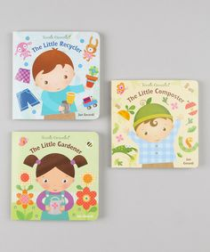 Sweeten story time with this spring-inspired set of books that is brimming with blooms and blossoms. These three stories feature fun and interactive flaps that little ones will love lifting to discover the surprises inside as they follow along.Includes The Little Recycler, The Little Composterand The Little GardenerWritten by Jan ...