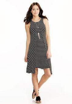 Cato Fashions Striped Flyaway Trapeze Dress #CatoFashions