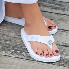 Bride Flip Flops - These are cute I am getting these for my wedding day.