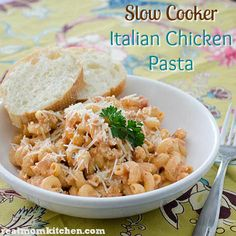Slow Cooker Italian Chicken Pasta | Real Mom Kitchen
