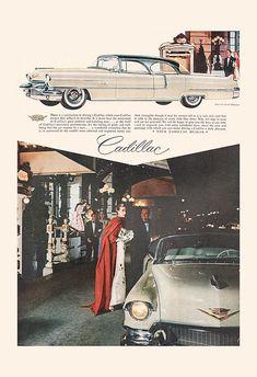 VINTAGE CADILLAC AD Classic Car Ad by EncorePrintSociety on Etsy