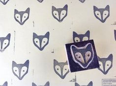 DIY fabric paint stamp craft upcycle fox