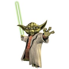 Roommates Star Wars Yoda Wall Decals ($17) ❤ liked on Polyvore featuring home, children's room, children's decor, decals & murals and wall decor