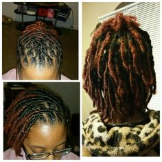 5/5/15...3 weeks in my Loc journey! My first retwist on my starter locs and my first loc style!!