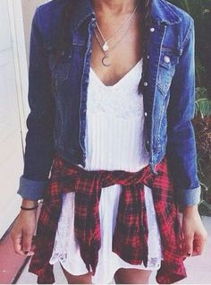 denim jacket + flannel #rails