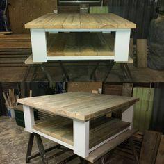 hal meubel steigerhout schoenkast kapstok bank en kattenbak deze staat onder de bank m
