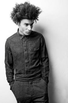 Men with Natural Hair   Sporty Afros
