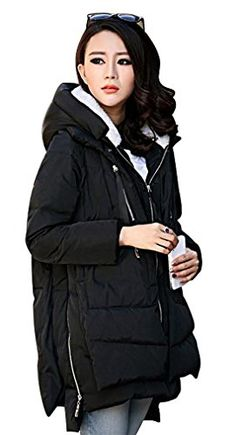 09b52efd466 Down Jacket Women s Fashion Thickened Loose Plus Size Warm Outwear Memory  Cotton Long Sleeve Winter Coat