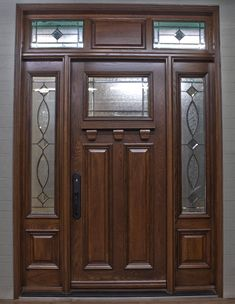 Entry Doors With Glass, Glass Door, Gate Design, Door Design, Wooden Doors, Tall Cabinet Storage, Villa, Home Decor, Entrance Doors