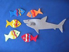 Five Little Fish Swimming in the Sea Felt Board Set RHYME