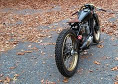 Pretty much a bicycle with a big motor on it. RocketGarage Cafe Racer: BSA 441 Board Tracker