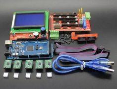 Ramps 1.4 Reprap Printer Controller Mega Blue 2560 R3 A4988 Drivers LCD SR1G