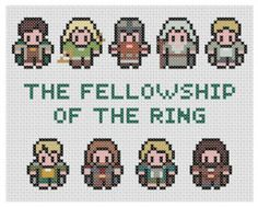 Lord Of The Rings Cross Stitch Pattern PDF by XStitchMyHeart