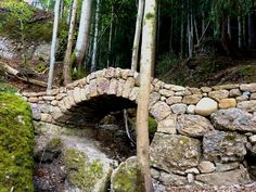Relaxing Garden Ideas With Stone Bridge 35 Pond Landscaping, Landscaping With Rocks, Stone Archway, Building A Pond, Growing Peonies, Natural Pond, Stone Masonry, Backyard Water Feature, Dry Stone