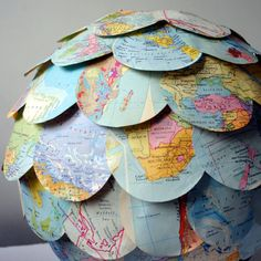 All around the world...adorable paper lantern.