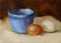 """""""Bowl and Eggs"""" - Original Fine Art for Sale - © Cindy Haase"""