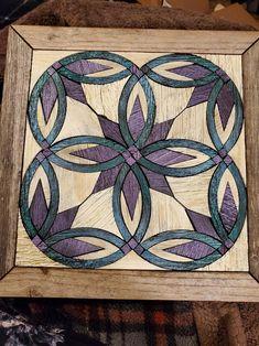 Barn Quilt Designs, Barn Quilt Patterns, Wood Patterns, Quilting Designs, Lap Quilts, Scrappy Quilts, Quilt Blocks, Wood Pallet Art, Reclaimed Wood Art
